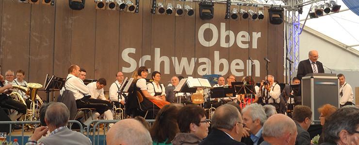 Musikkapelle bei der Oberschwabenschau