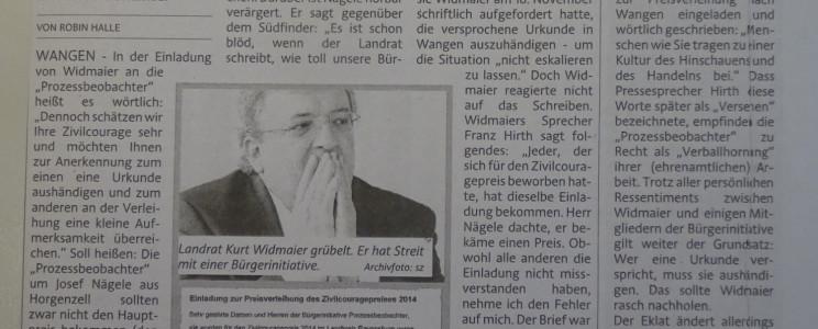 Bericht des Südfinder 26.11.2014