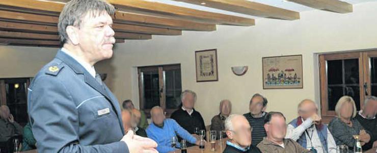 Ernst Arnegger im Zunfthaus der Narren Markdorf